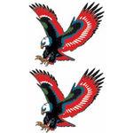 タトゥーシール 赤鷲(タトゥー・刺青シール)
