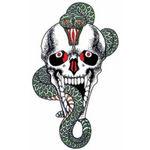 タトゥーシール ドクロ蛇(タトゥー・刺青シール)