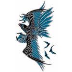 タトゥーシール 黒鷲(タトゥー・刺青シール)