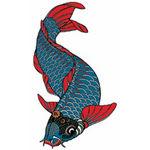 タトゥーシール 青い鯉(タトゥー・刺青シール)