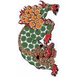 タトゥーシール 唐獅子(小)(タトゥー・刺青シール)