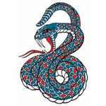 タトゥーシール 青蛇(小)(タトゥー・刺青シール)