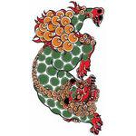 タトゥーシール 唐獅子(タトゥー・刺青シール)