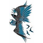 タトゥーシール 青鷲(タトゥー・刺青シール)