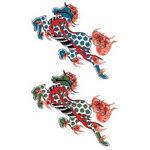 タトゥーシール 火炎一角獣(タトゥー・刺青シール)