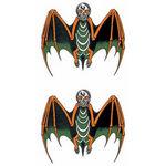 タトゥーシール ドクロ蝙蝠(タトゥー・刺青シール)