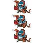 タトゥーシール 蛇とドクロ(タトゥー・刺青シール)