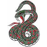 タトゥーシール 緑蛇(タトゥー・刺青シール)