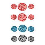 タトゥーシール 三色花薔薇(タトゥー・刺青シール)