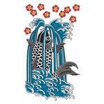 タトゥーシール 鯉滝登図(タトゥー・刺青シール)