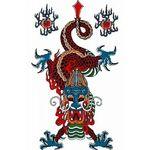 タトゥーシール 赤龍(タトゥー・刺青シール)