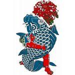 タトゥーシール 鯉と金太郎(タトゥー・刺青シール)