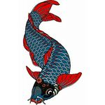 タトゥーシール 青鯉(タトゥー・刺青シール)