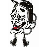 タトゥーシール 黒般若(タトゥー・刺青シール)