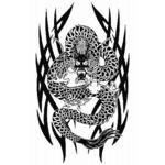 タトゥーシール トライバル・ドラゴン(タトゥー・刺青シール)