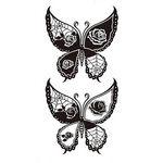 タトゥーシール 黒蝶3(タトゥー・刺青シール)