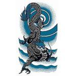 タトゥーシール 大型・雷雲龍(タトゥー・刺青シール)