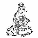 タトゥーシール 白衣観音ミニ(タトゥー・刺青シール)