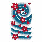 タトゥーシール 桜吹雪2(タトゥー・刺青シール)