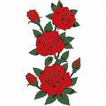 タトゥーシール 薔薇三輪(タトゥー・刺青シール)