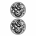 タトゥーシール トロピカル黒(タトゥー・刺青シール)