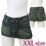 デニムミニスカート XXL(衣装・コスチューム)
