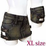 デニムサイドベルト付 XL(衣装・コスチューム)