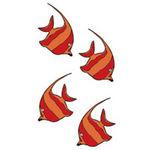 タトゥーシール 熱帯魚3・赤(タトゥー・刺青シール)
