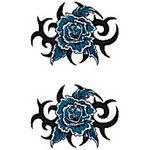 タトゥーシール 青薔薇トライバル(タトゥー・刺青シール)