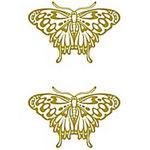 タトゥーシール 金の蝶(タトゥー・刺青シール)