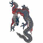 タトゥーシール 大型・臥龍(タトゥー・刺青シール)