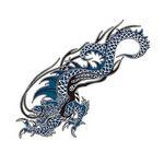 タトゥーシール 青ドラゴン 2(タトゥー・刺青シール)