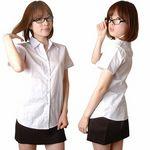 タイの女学生風 半袖スクールシャツ&タイトスカート(衣装・コスチューム)