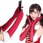 スマホが使えるサンタ手袋ロング(衣装・コスチューム)