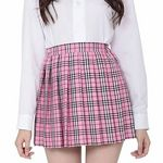 鉄板スタイルチェックスカート ピンク(衣装・コスチューム)