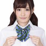 きゅん可愛スクールリボン ブルー&グリーンストライプ(衣装・コスチューム)