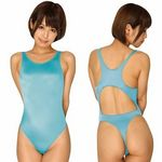 2wayストレッチ定番人気の競泳水着 ターコイズ(衣装・コスチューム)