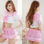 最強ピンクの可愛さアピールセーラー服(衣装・コスチューム)