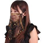 ナイトマスクフェイスベール ブラック(衣装・コスチューム)