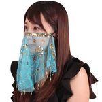 ナイトマスクフェイスベール サックス(衣装・コスチューム)