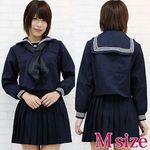 黒スカーフのセーラー服(冬服) M(衣装・コスチューム)