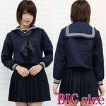 黒スカーフのセーラー服(冬服) BIG(衣装・コスチューム)