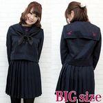 私立女子校のセーラー服(冬服) BIG(衣装・コスチューム)