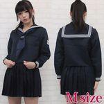 紺と白の清純学園セーラー服(冬服) M(衣装・コスチューム)