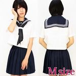 伝統のある女子高セーラー服(夏服) M(衣装・コスチューム)