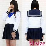 青いリボンのセーラー服(中間服) M(衣装・コスチューム)