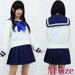 青いリボンのセーラー服(冬服) M(衣装・コスチューム)