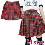 チェック柄プリーツスカート M(衣装・コスチューム)