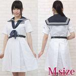 お嬢様学園高校のセーラー服(夏服) M(衣装・コスチューム)