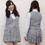 有名女子高等学校の学生服(中間服) M(衣装・コスチューム)